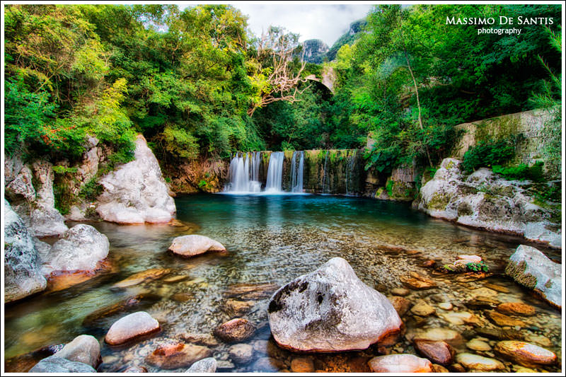 Cascata nei pressi di Laurino (Cilento)